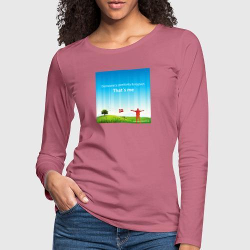 Rolling hills tshirt - Dame premium T-shirt med lange ærmer