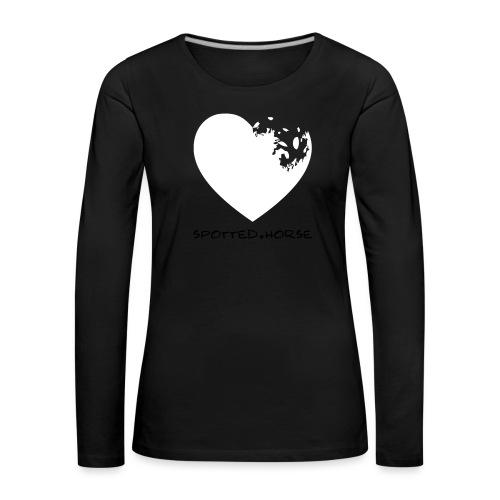 Cuore Appaloosa (bianco/rosso) - Maglietta Premium a manica lunga da donna