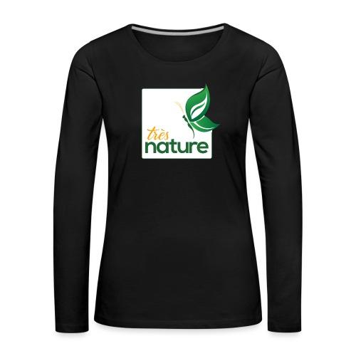 carre_pap_vert_tsh - T-shirt manches longues Premium Femme
