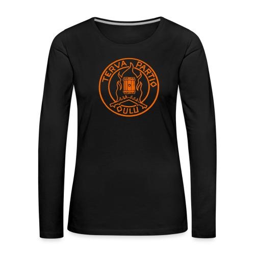 Tervapartio_oranssi - Naisten premium pitkähihainen t-paita