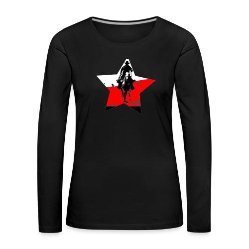konno po polsku - Koszulka damska Premium z długim rękawem