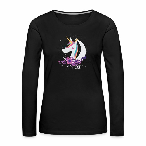 Magisches Einhorn - Frauen Premium Langarmshirt