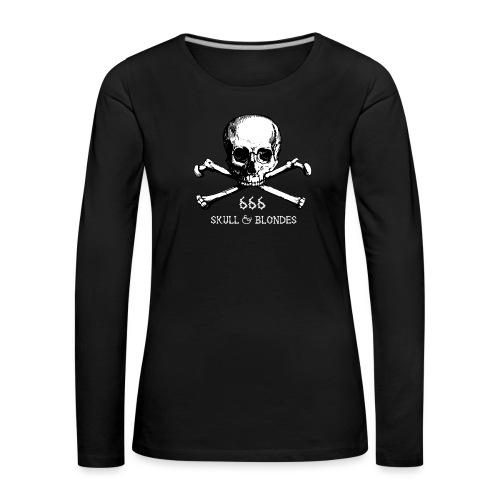 skull & blondes (white) - Frauen Premium Langarmshirt