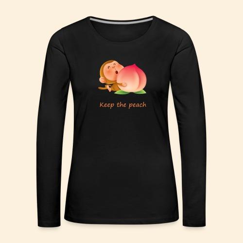 Monkey Keep the peach - T-shirt manches longues Premium Femme