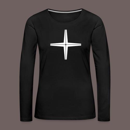 GBIGBO zjebeezjeboo - Rocher - Place au milieu - T-shirt manches longues Premium Femme