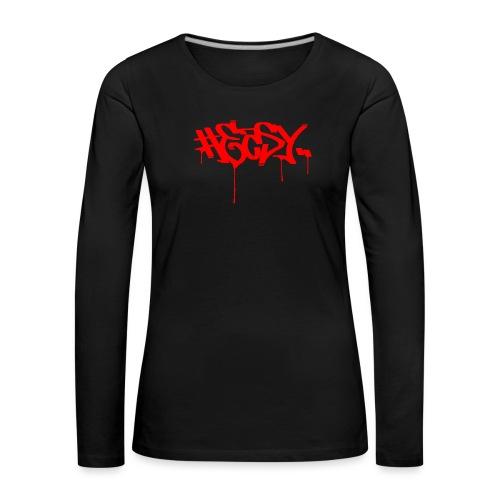 #EASY Graffiti Logo T-Shirt - Maglietta Premium a manica lunga da donna