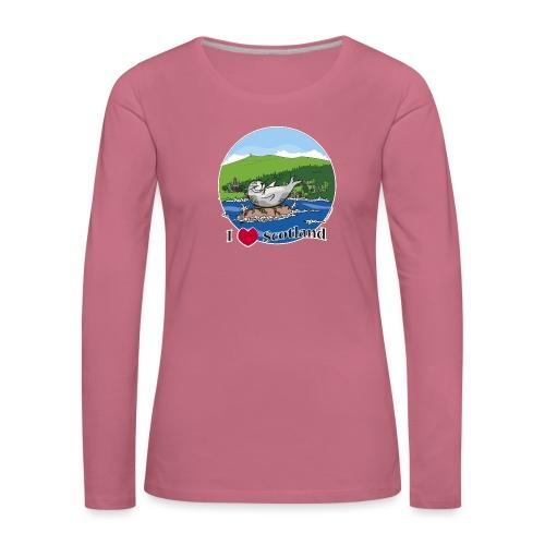 I heart Scotland - Sutherland & Caithness - Women's Premium Longsleeve Shirt