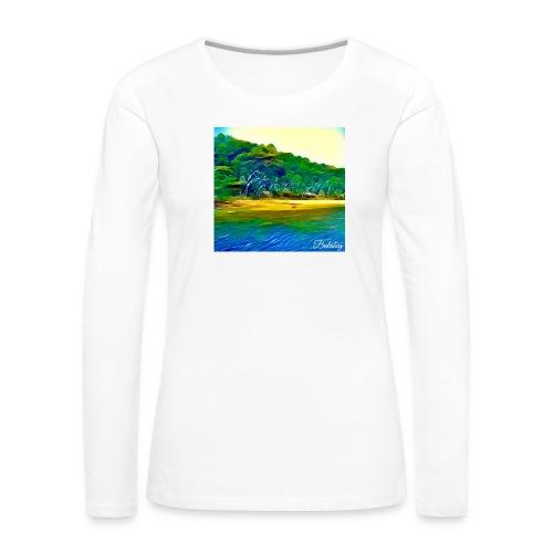 Tropical beach - Maglietta Premium a manica lunga da donna