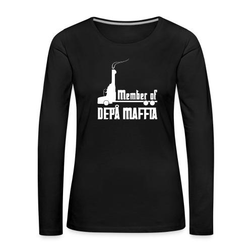 Depå Maffia vitt tryck - Långärmad premium-T-shirt dam
