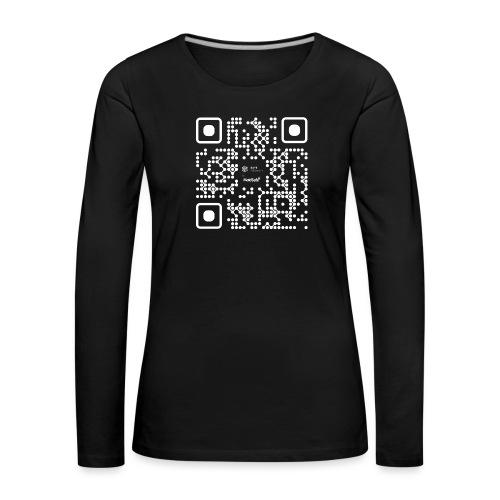 QR - Maidsafe.net White - Women's Premium Longsleeve Shirt