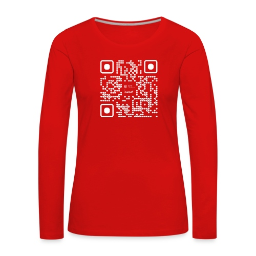 QR - Maidsafe.net White - Women's Premium Longsleeve Shirt