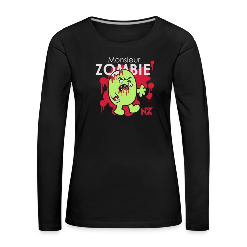 mr zombie - T-shirt manches longues Premium Femme