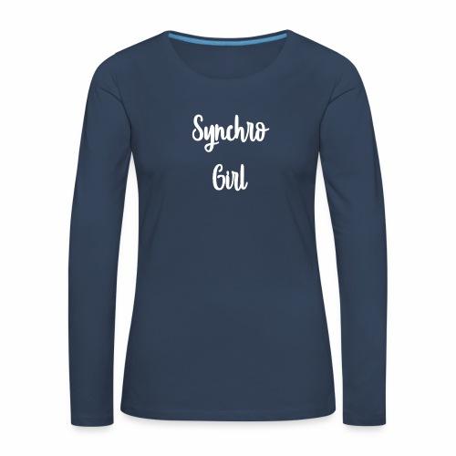 Synchro Girl - Naisten premium pitkähihainen t-paita