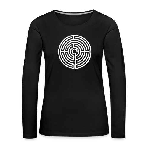 Labyrinth Schutzsymbol Lebensweg Magie Mystik - Frauen Premium Langarmshirt