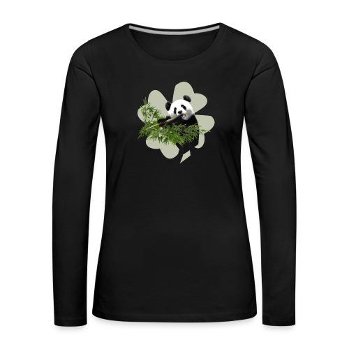 My lucky Panda - T-shirt manches longues Premium Femme