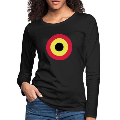 Couleurs Belgique - Belgium - Belgie - T-shirt manches longues Premium Femme