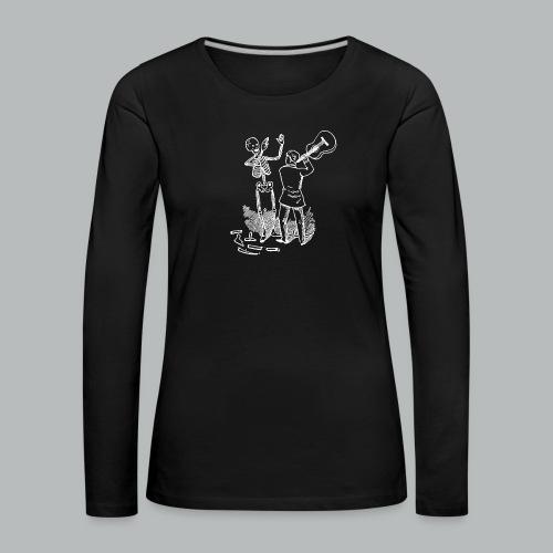 DFBM unbranded white - Women's Premium Longsleeve Shirt