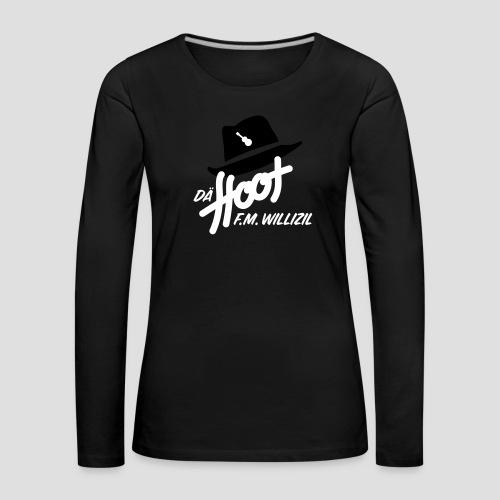 daeHoot_Shirt_Logo1_2c - Frauen Premium Langarmshirt