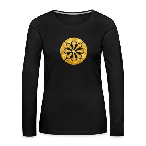 Sanja Matsuri Komagata mon gold - Women's Premium Longsleeve Shirt