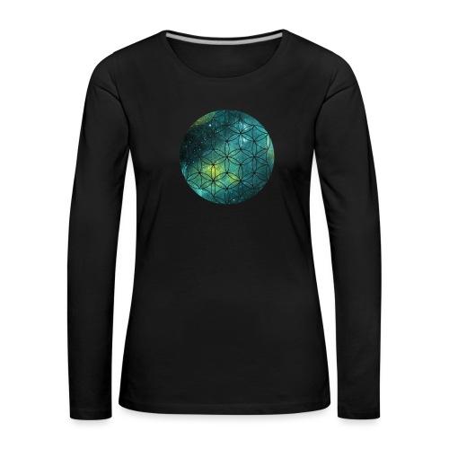 FlowerOfLife Cool - Vrouwen Premium shirt met lange mouwen