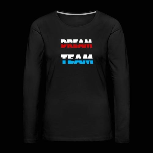 DreamTeam - Dame premium T-shirt med lange ærmer