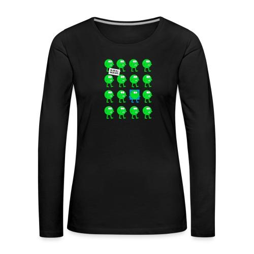We are all green dots! - Frauen Premium Langarmshirt