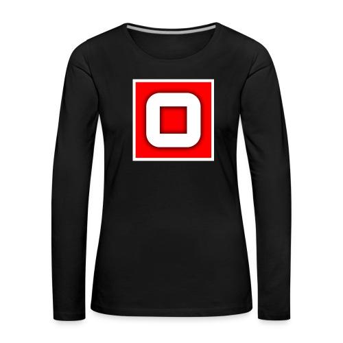 Vanlig Logo (tonåring) - Långärmad premium-T-shirt dam