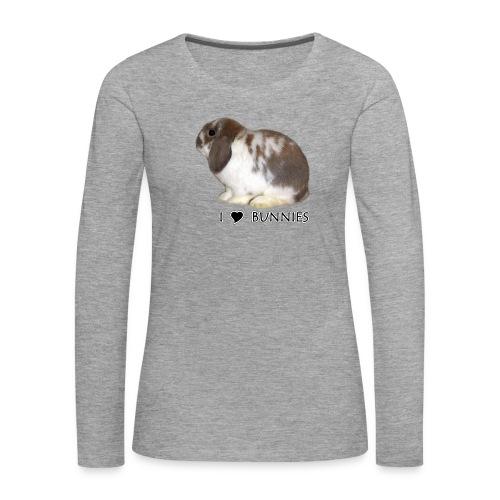 I Love Bunnies Luppis - Naisten premium pitkähihainen t-paita
