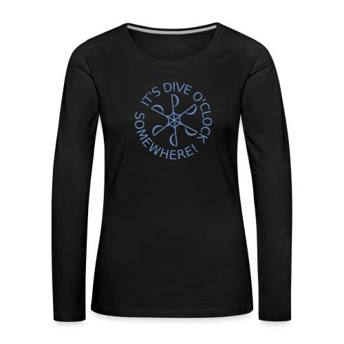 Dive o clock Light Blue - Women's Premium Longsleeve Shirt