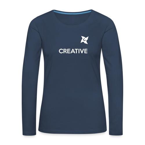 Creative long urban shirt - Dame premium T-shirt med lange ærmer