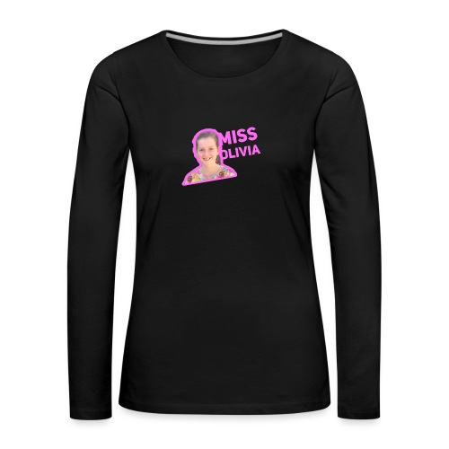 MissOlivia - Vrouwen Premium shirt met lange mouwen