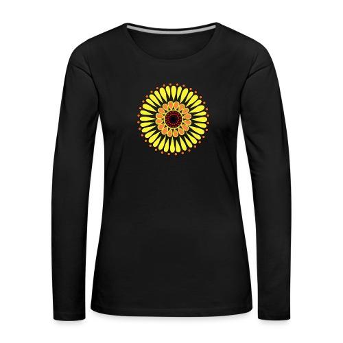 Yellow Sunflower Mandala - Women's Premium Longsleeve Shirt