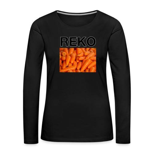 REKOpaita porkkanat - Naisten premium pitkähihainen t-paita