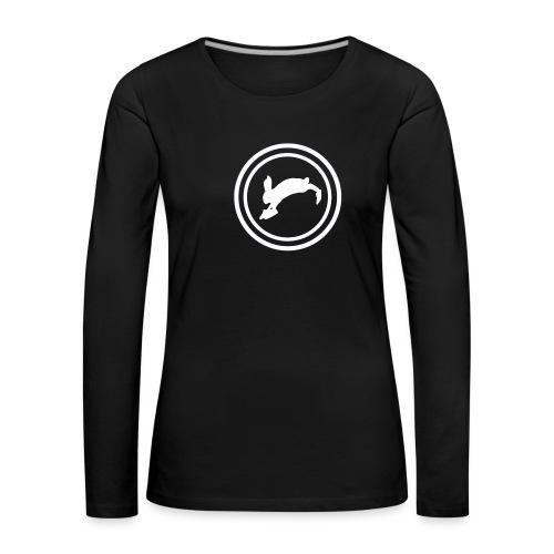 Bunny_Logo2 - Dame premium T-shirt med lange ærmer