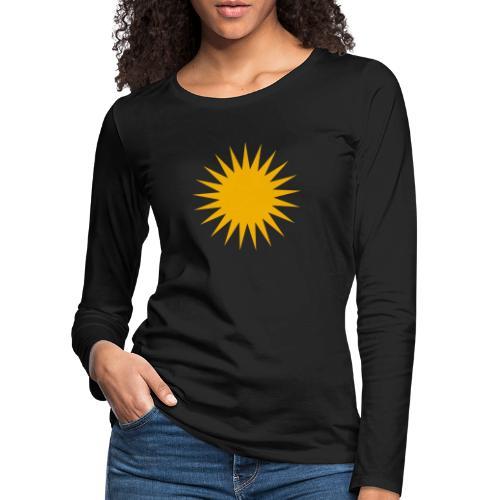 Kurdische Sonne Symbol - Frauen Premium Langarmshirt