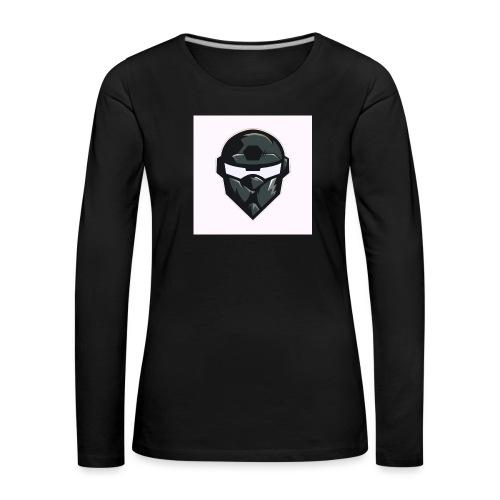 Mainlogo - Dame premium T-shirt med lange ærmer