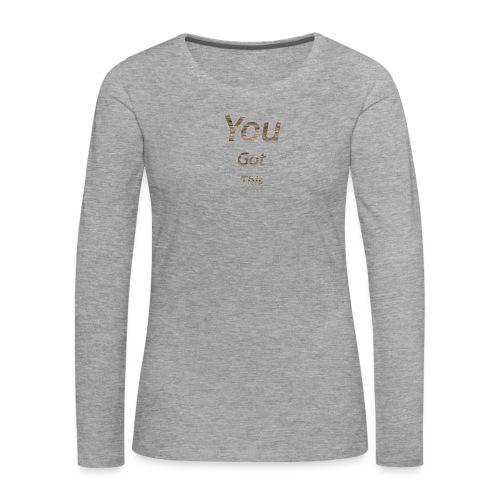 Vous avez obtenu ce - T-shirt manches longues Premium Femme