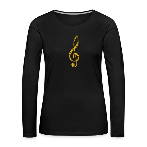 Goldenes Musik Schlüssel Symbol Chopped Up - Women's Premium Longsleeve Shirt