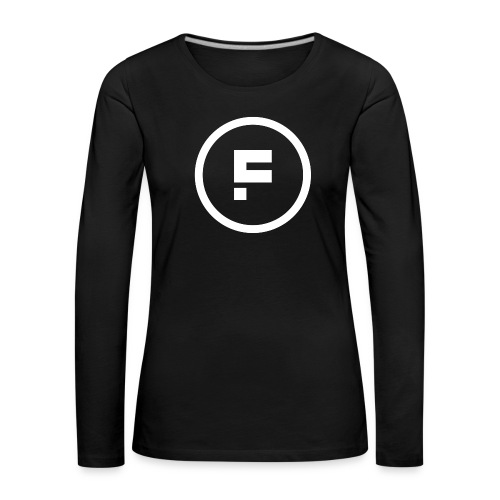 Logo Rond Wit Fotoclub - Vrouwen Premium shirt met lange mouwen