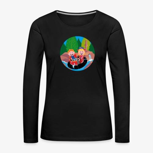Themepark: Rapids - Vrouwen Premium shirt met lange mouwen