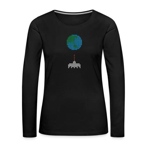 Earth Invaders - Frauen Premium Langarmshirt
