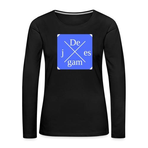 de j games kleren - Vrouwen Premium shirt met lange mouwen