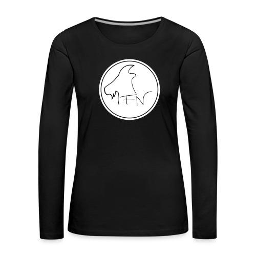 FN-Logo Weiss - Frauen Premium Langarmshirt