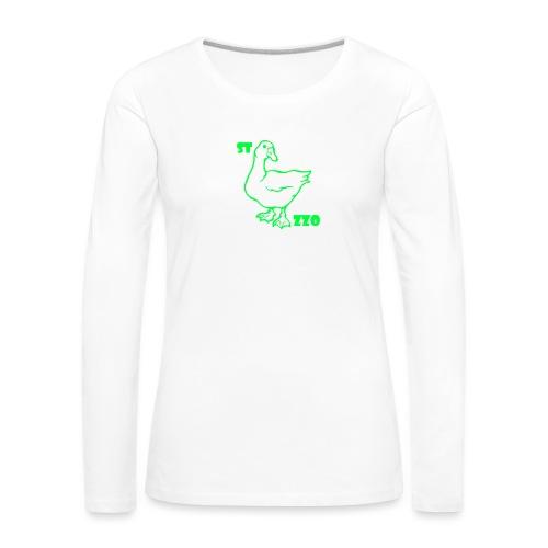 REBUS...STOCAZZO - Maglietta Premium a manica lunga da donna