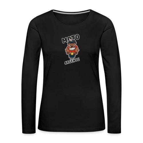 moto argente - T-shirt manches longues Premium Femme