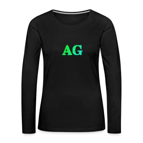 ATG Games logo - Naisten premium pitkähihainen t-paita