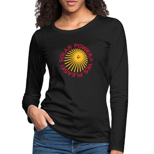BD Solar Power - Frauen Premium Langarmshirt