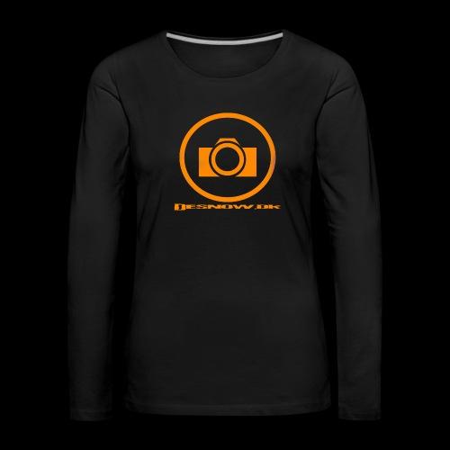 Orange 2 png - Dame premium T-shirt med lange ærmer