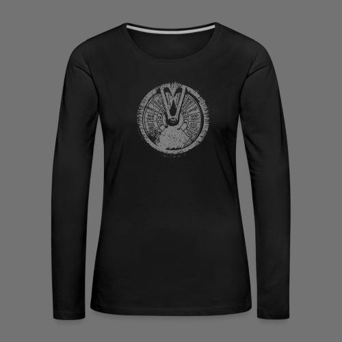 Maschinentelegraph (grå oldstyle) - Dame premium T-shirt med lange ærmer