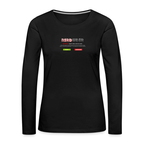 N3RD WEAR - Explicit - Frauen Premium Langarmshirt
